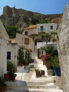 Plaka in Crete. One of the settings in the book.