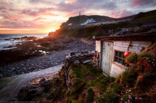 Fishermen's Huts at Cape Cornwall, Priests Cove, Cornwall, England