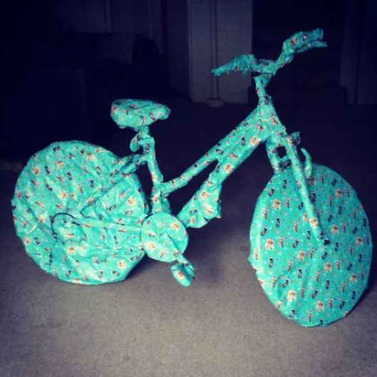 wrapped bike